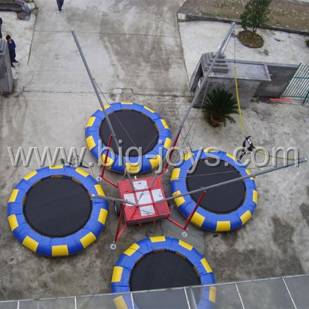 inflatable bungee trampoline on trailer