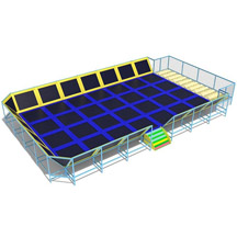 trampoline park combo with foam pit