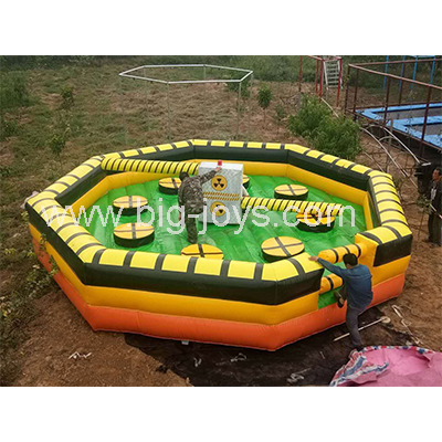 Meltdown inflatable game,Meltdown machine,inflatable wipe out sport game