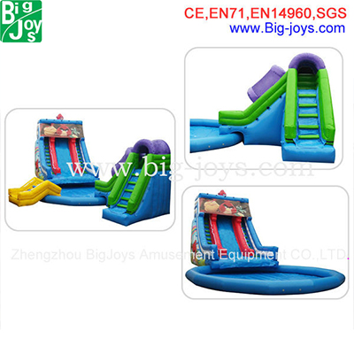 inflatable angry bird water slide for kids and adults