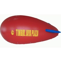 red airship with helium filled
