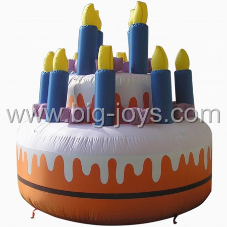 small inflatable cake advertising
