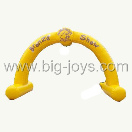 inflatable yellow arch