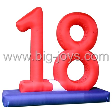inflatable number